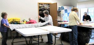 Quilters at work!